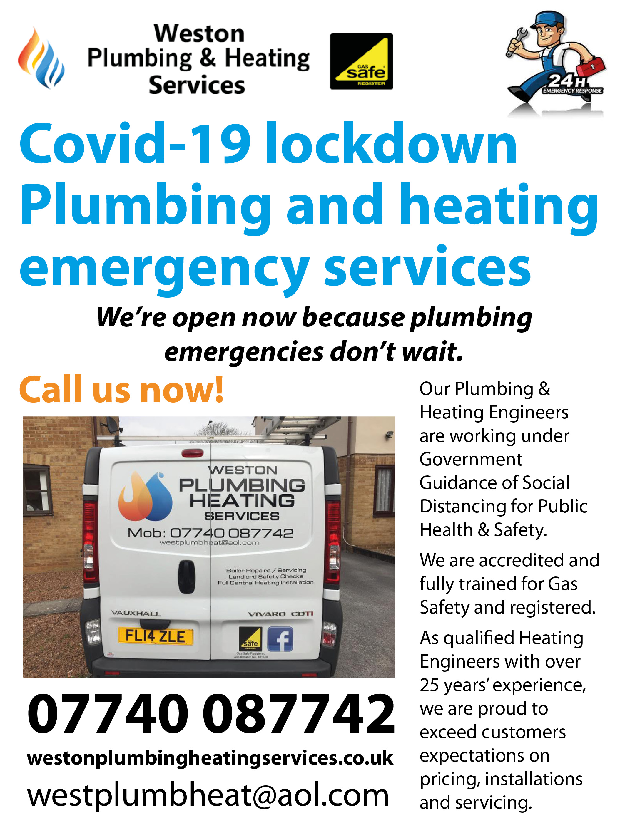 Covid-19 lockdown Plumbing and heating emergency services We're open now because plumbing emergencies don't wait.