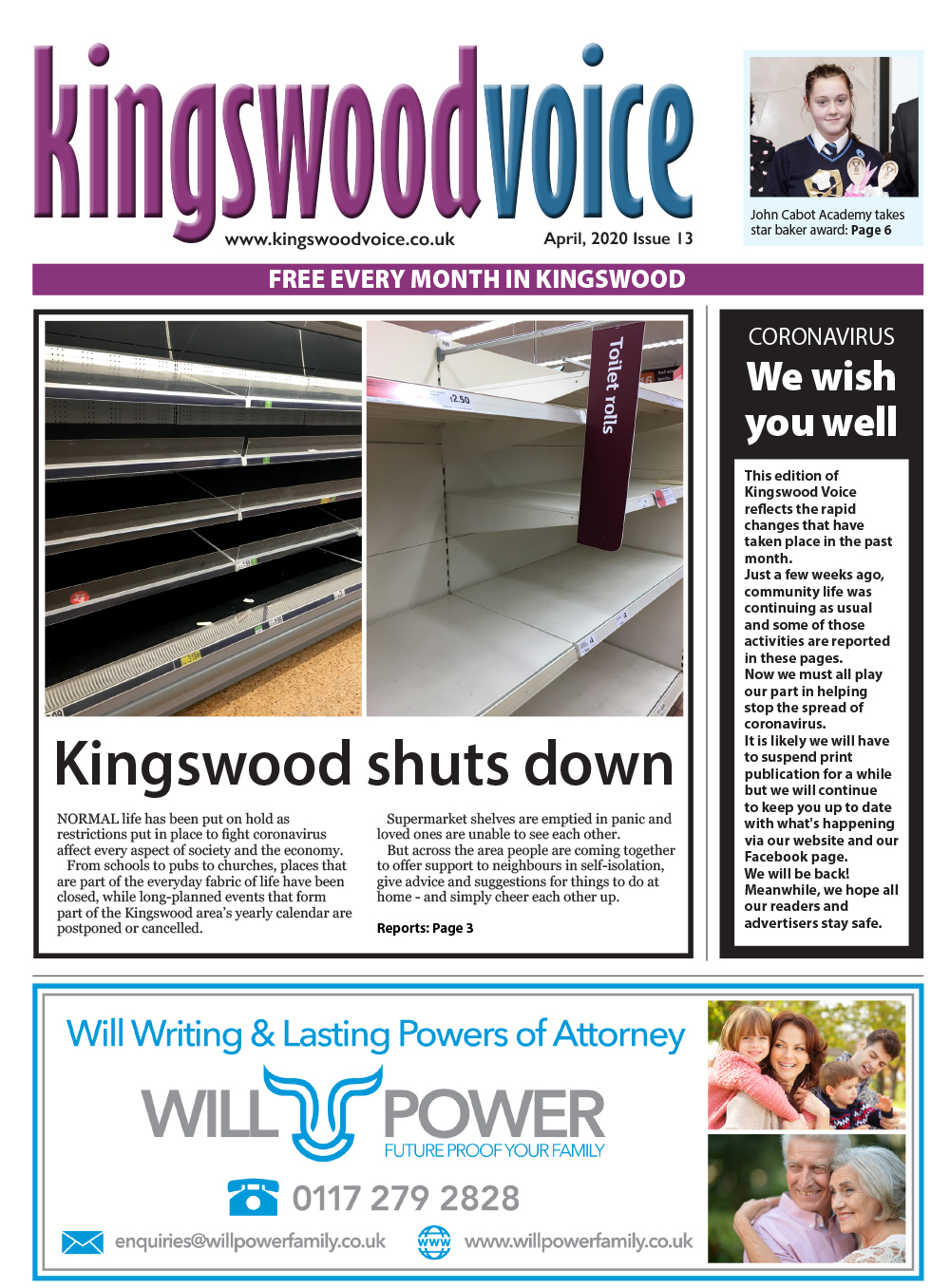 Kingswood Voice April 2020