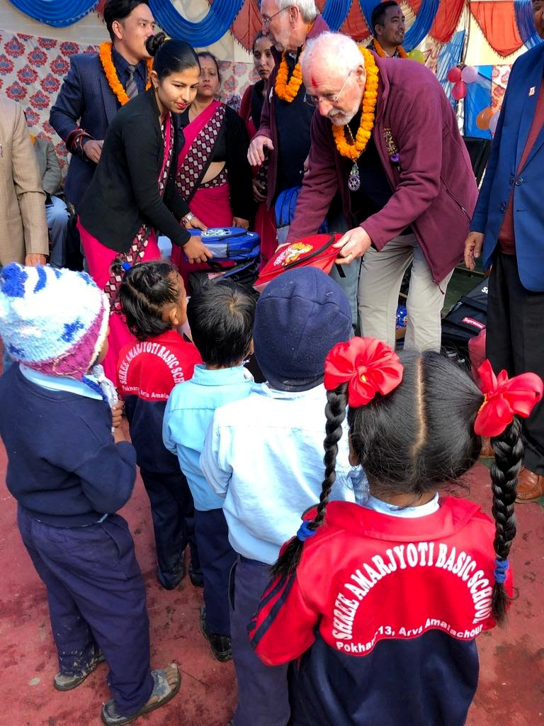 Roy's legacy to schoolchildren in Nepal