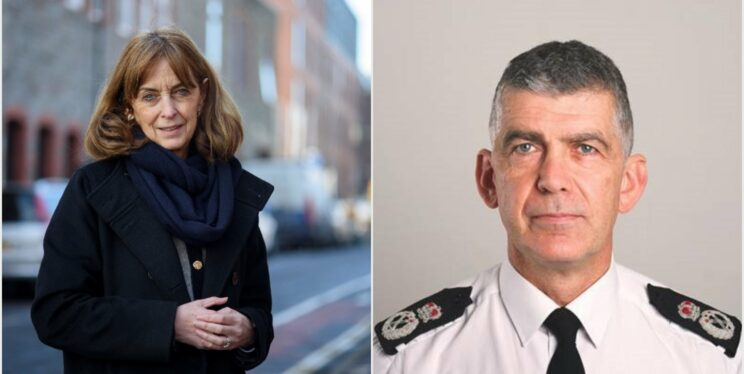 Police and Crime Commissioner Sue Mountstevens and Chief Constable Andy Marsh.
