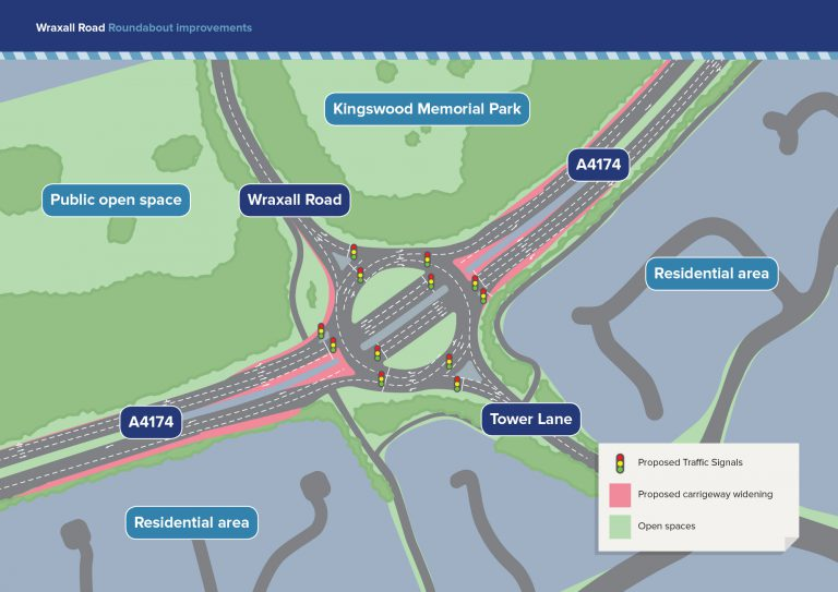 Work set to start on major overhaul of Wraxall Road roundabout on A4174 ring road