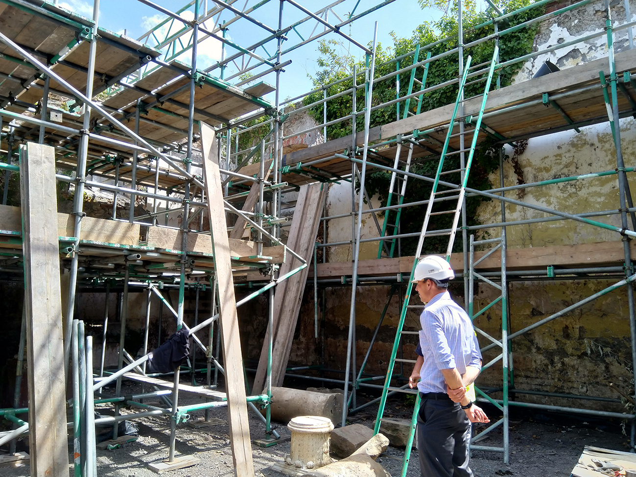 Repairs to the roof of the Whitfield Tabernacle are expected to take until autumn