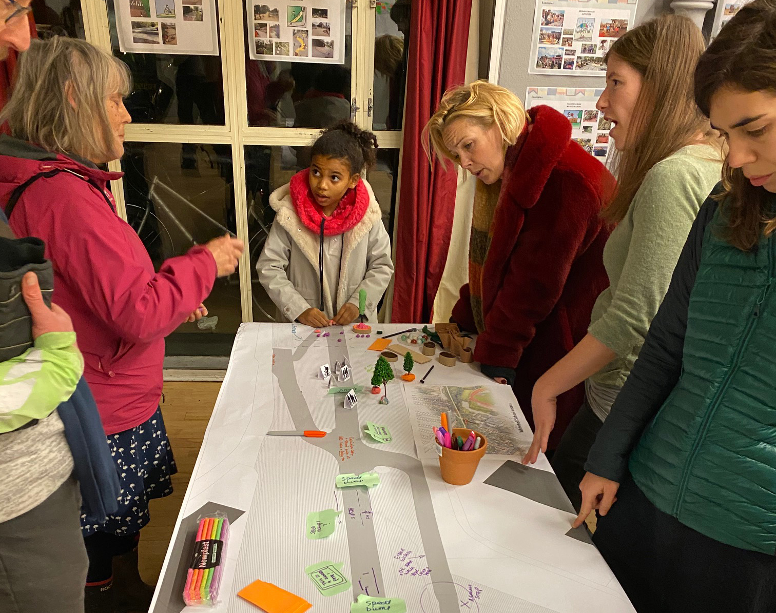 Adding design ideas to part of the path at a community workshop. Picture: Sustrans