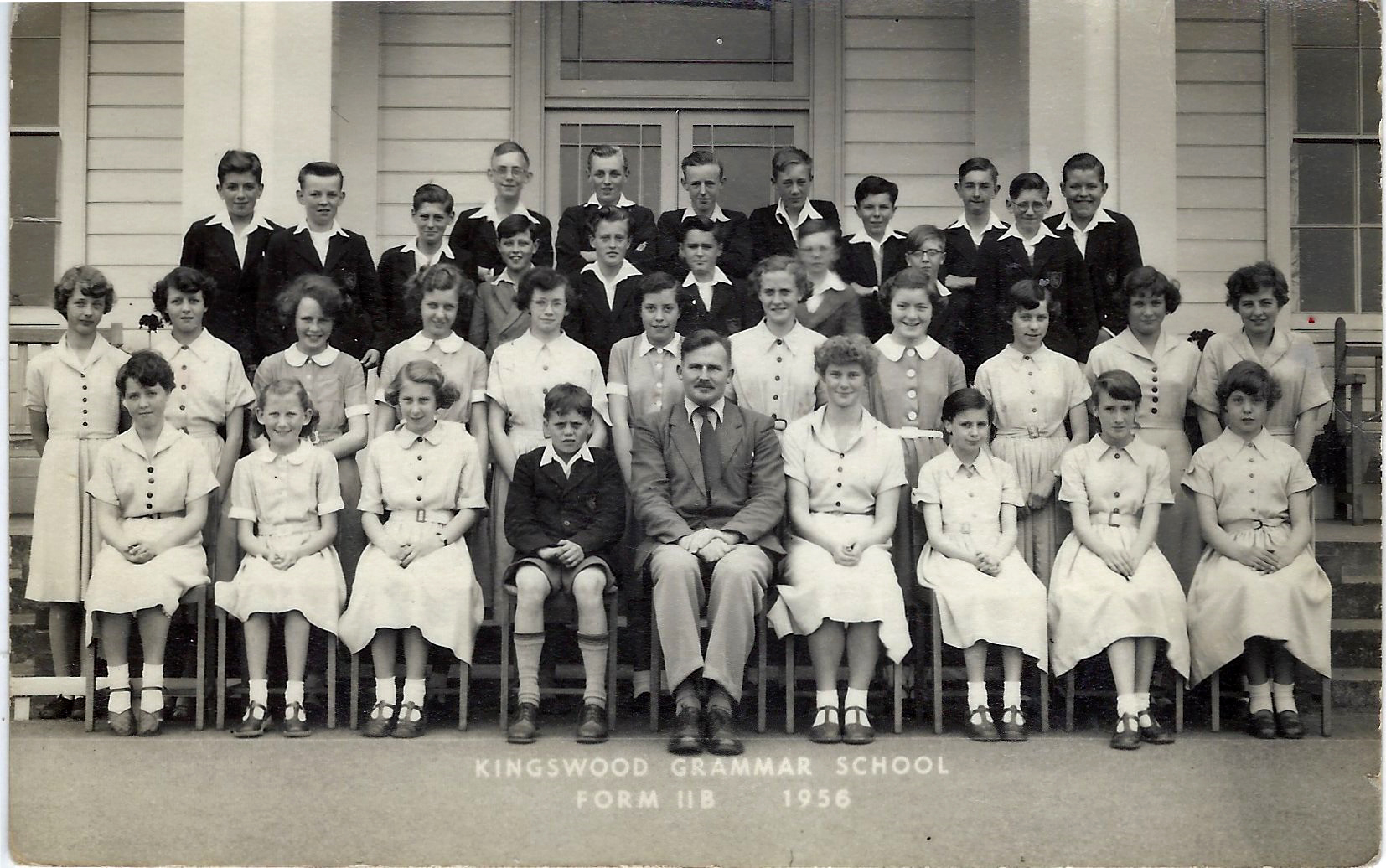 Kingswood Grammar Form 2B 1956 with - we think! - Colin Pillinger back row second from left