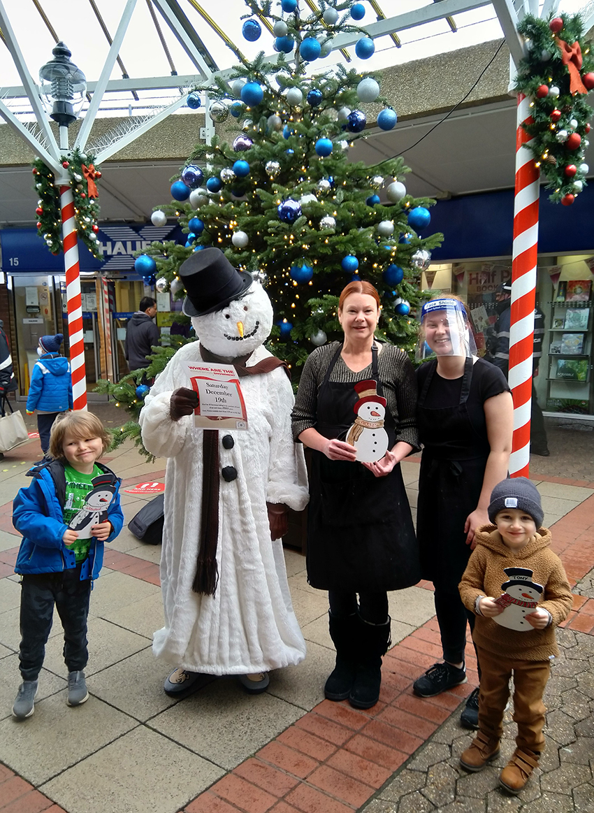 Parsons bakery is taking part in the Snowman Trail  for the first time. Two of its staff get the lowdown from Oscar and Harrison