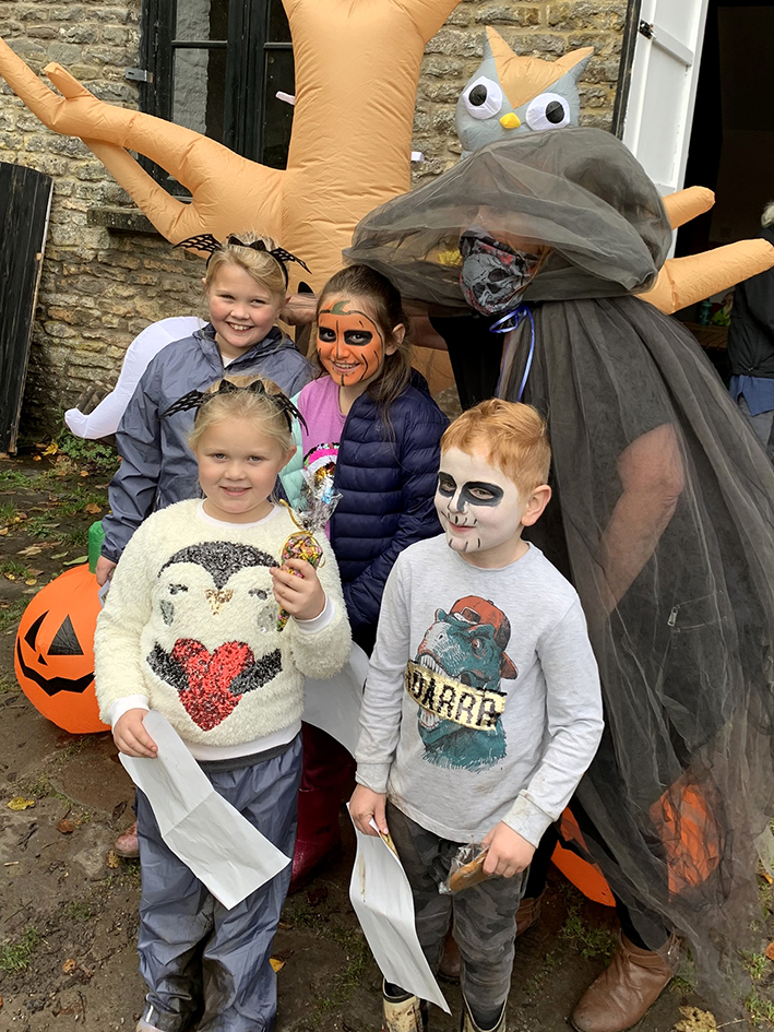 In October a pumpkin hunt through the nature reserve was organised