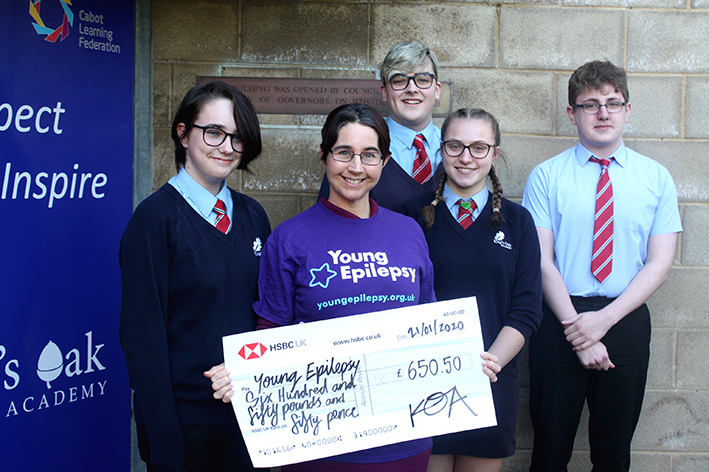 School's boost for epilepsy charity