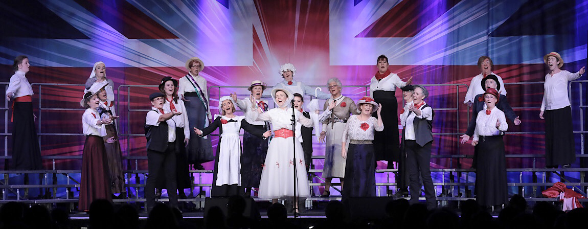 The choir performed a Mary Poppins medley back in October at the Ladies Association Of Barbershop Singers Convention (LABBS) held in Llandudno