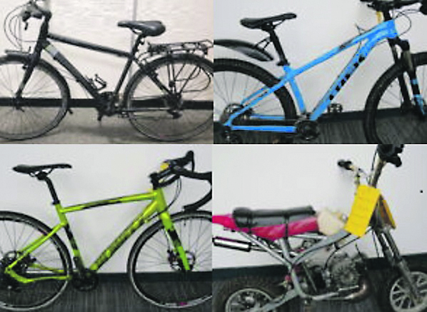 Some of the stolen bikes recovered by police