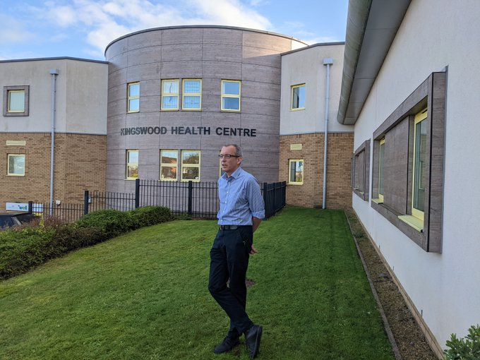 Dr Neil Kerfoot, a GP at Kingswood Health Centre, is a member of the clinical team responsible for Covid vaccinations across the area