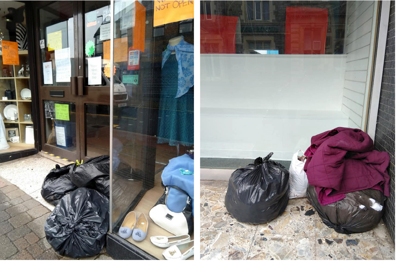 People who leave donations outside closed shops in Kingswood are in effect fly-tipping