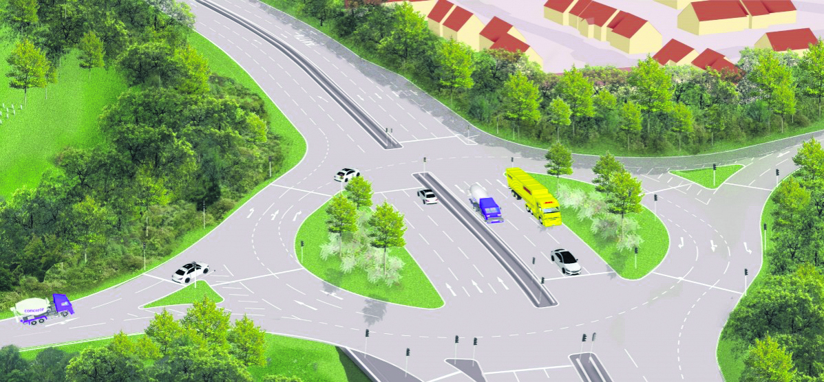How the new roundabout on the ring road at Wraxall Road will look