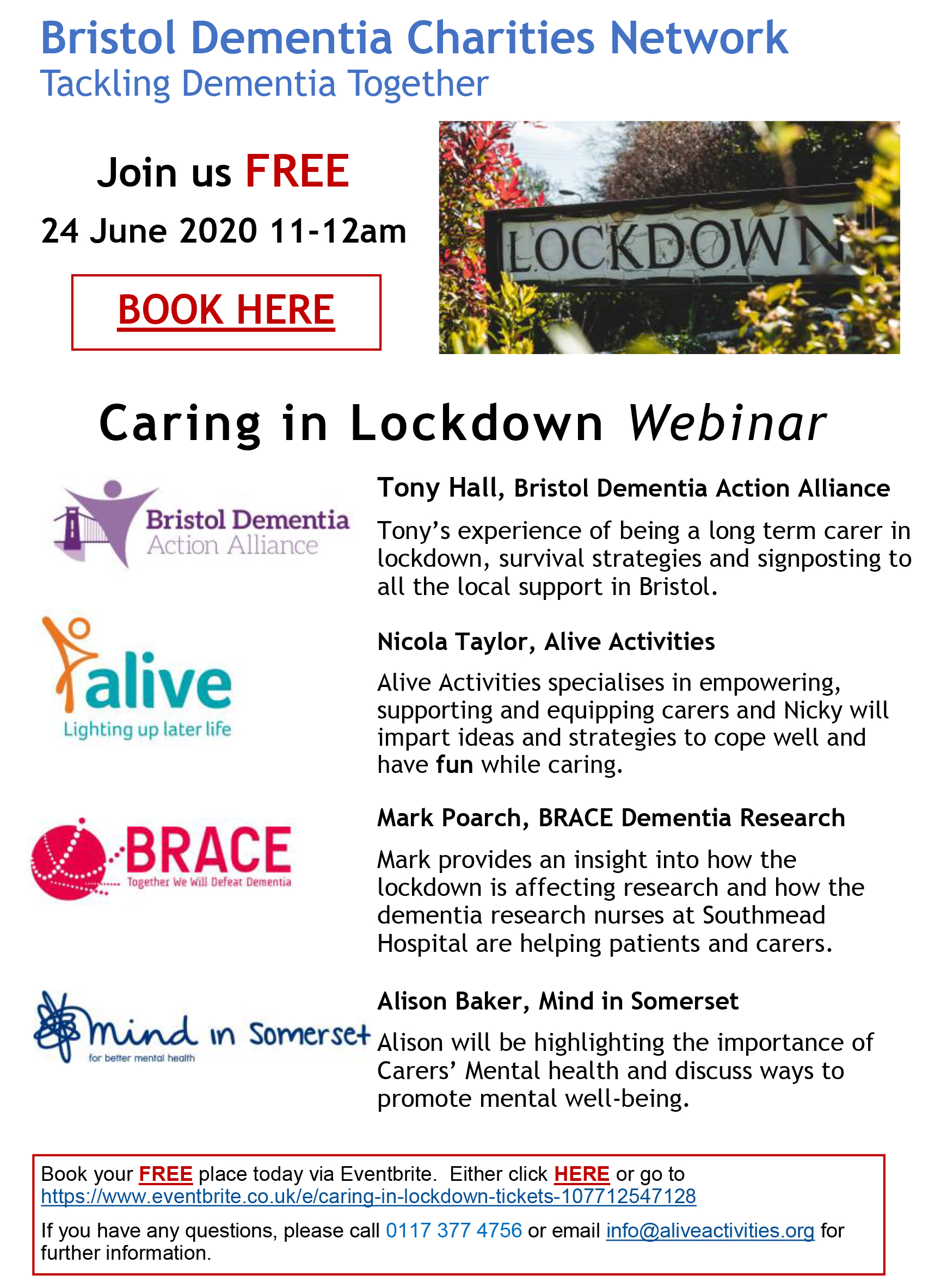 Lockdown support for Dementia patients and carers