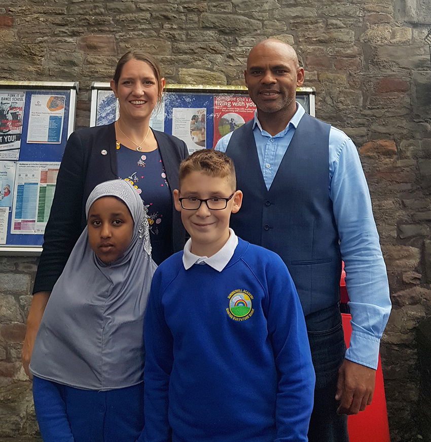 PUPILS at Summerhill Academy welcomed a special visitor – Bristol Mayor Marvin Rees.