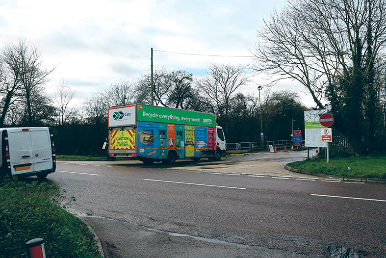 A new slip road will be built at the entrance to the Mangotsfield Sort It centre
