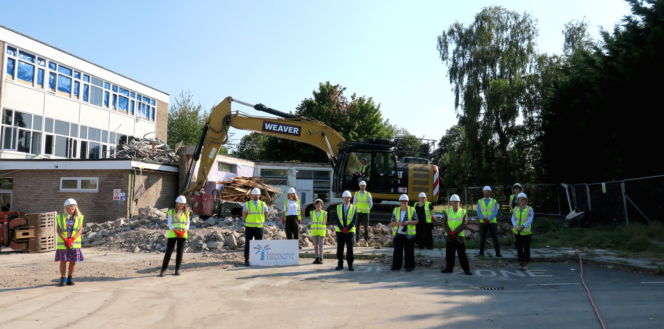 Local councillors joined representatives of Soundwell Academy, Learn@ Multi Academy Trust, South Gloucestershire Council, B&NES, Interserve and St Stephen's Church at the site of the new school