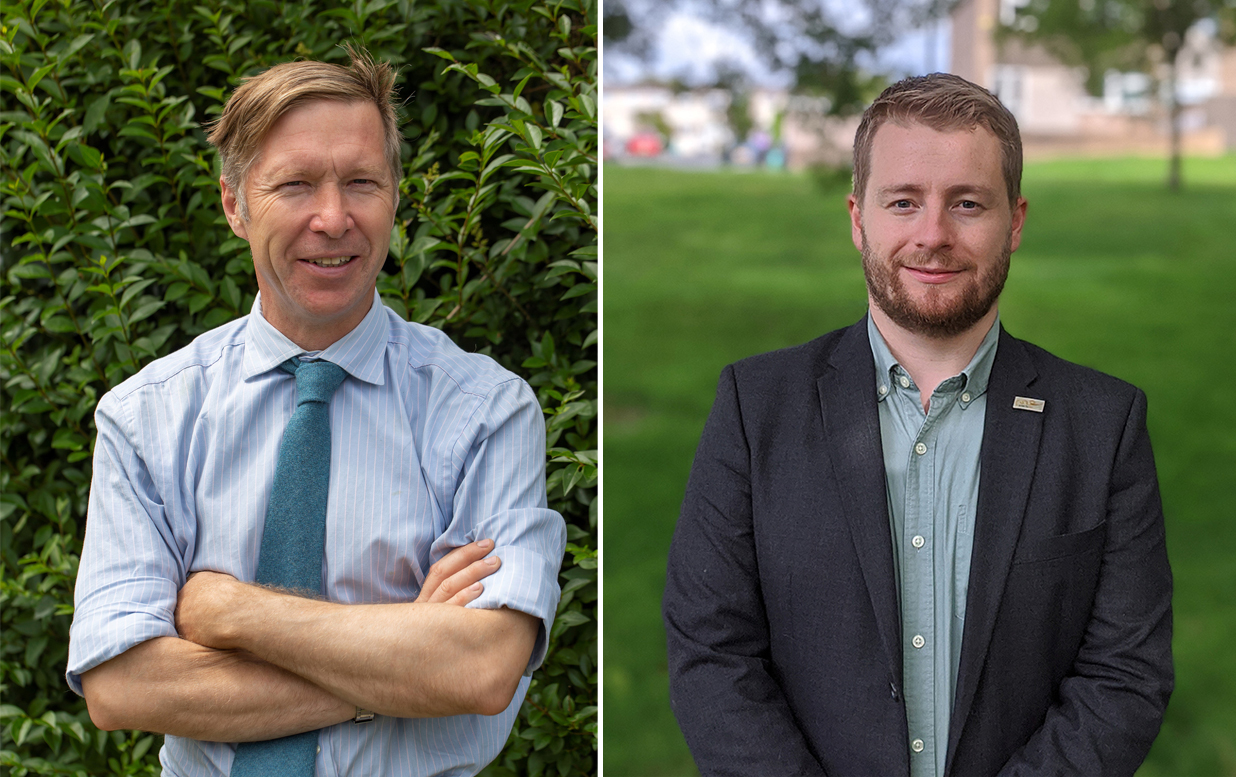 Councillors Ben Stokes and Sam Bromiley