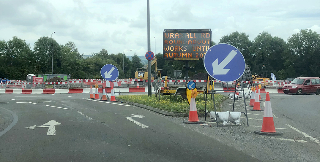 Work is under way on the £5.9m upgrade of the roundabout